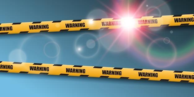 Барьер предупреждение ленты на прозрачном фоне. иллюстрации. Premium векторы