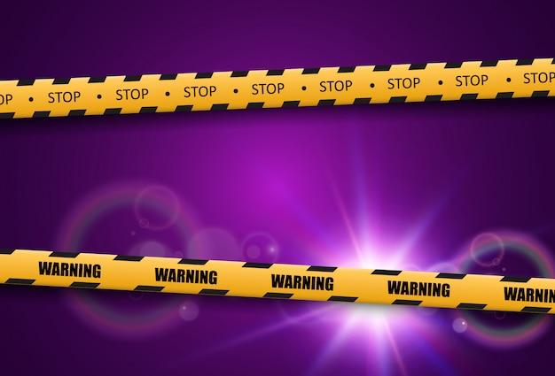Barrier warning tape on transparent background. vector illustration. Premium Vector