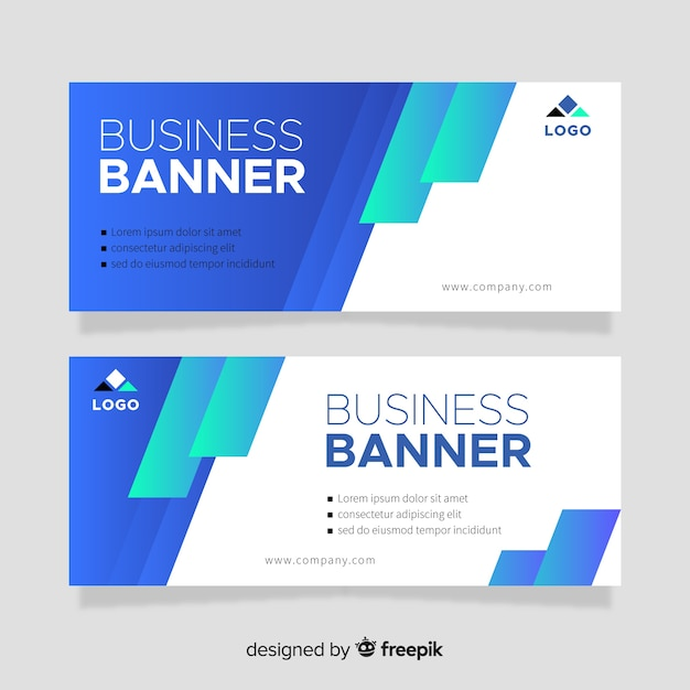 Bars banner template Free Vector