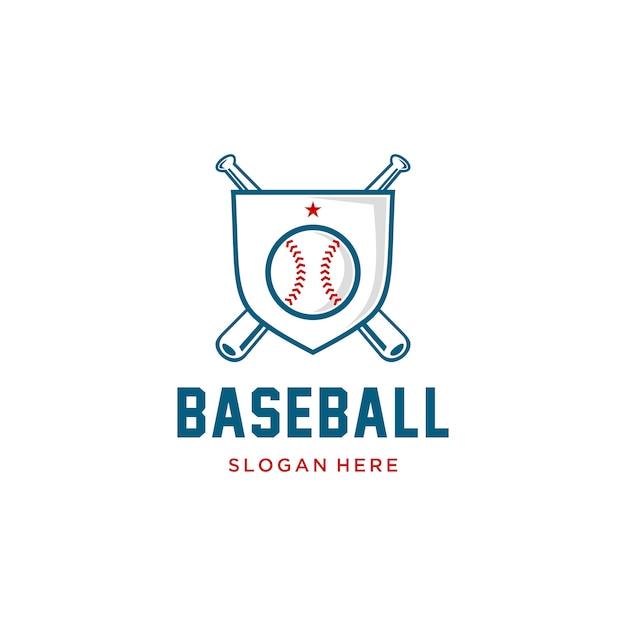 Baseball badge logo Premium Vector
