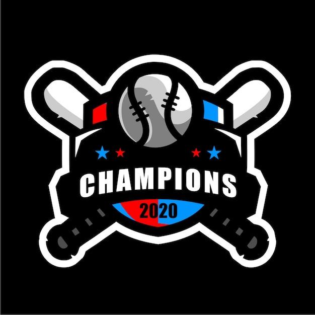 Бейсбольный значок спортивный логотип Premium векторы