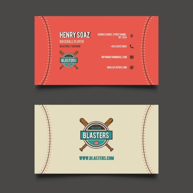 Baseball business card vector free download baseball business card free vector colourmoves Choice Image