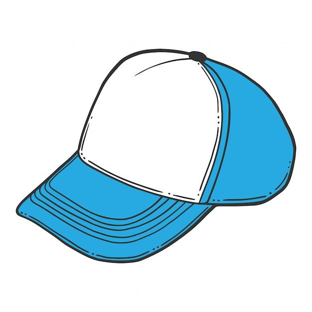 Baseball cap, trucker hat. Premium Vector