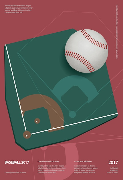 Baseball championship sport poster design vector illustration Premium Vector