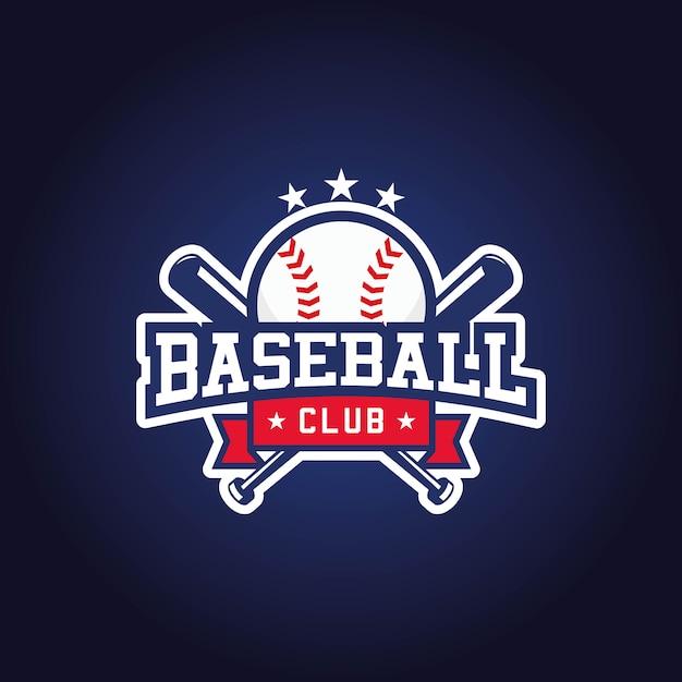 Дизайн логотипа бейсбольного клуба Premium векторы