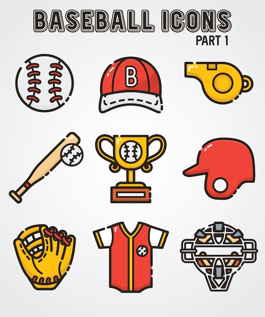 Baseball icon Premium Vector
