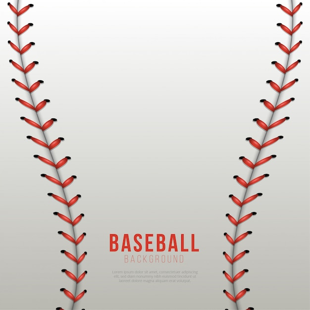 Baseball laces background Premium Vector