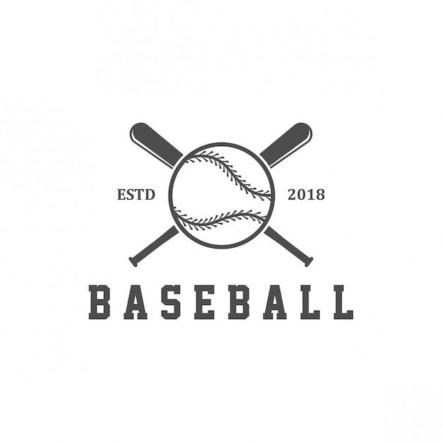 Baseball logo design Premium Vector
