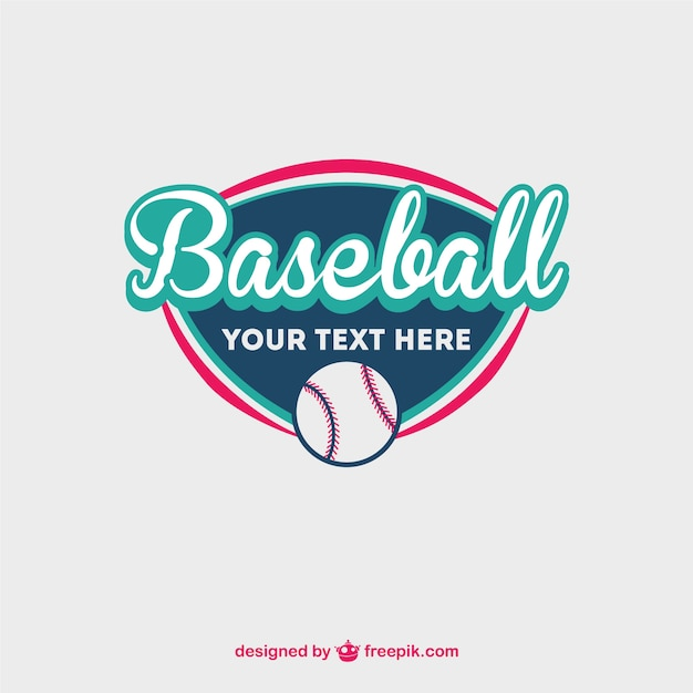 baseball logo with a ball vector free download