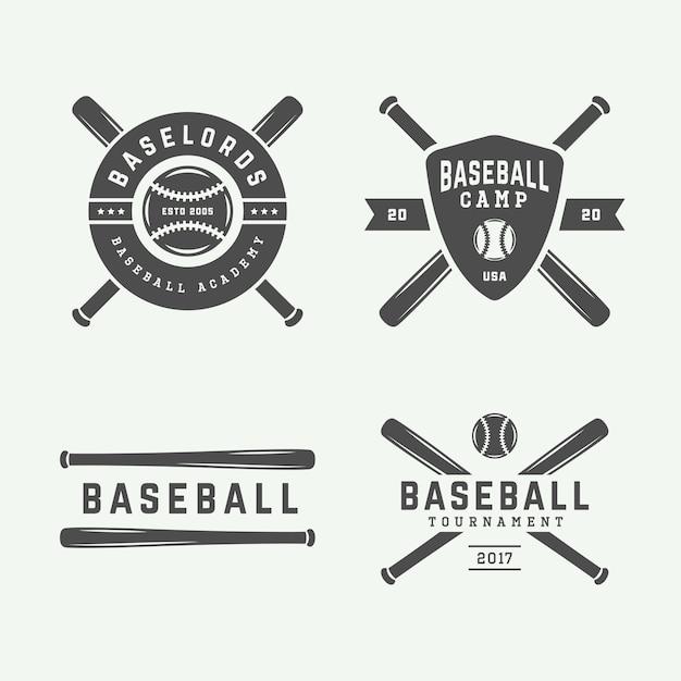 Baseball logos Premium Vector