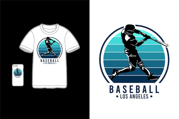 Baseball los angeles t-shirt merchandise Premium Vector