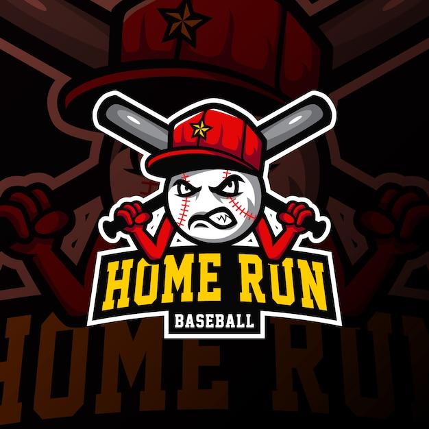 Baseball mascot logo esport gaming illustration Premium Vector