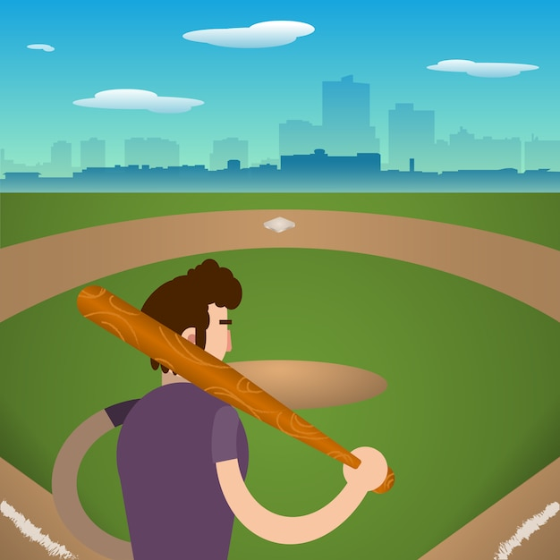 Baseball player background