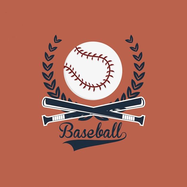 Baseball related icons image Premium Vector