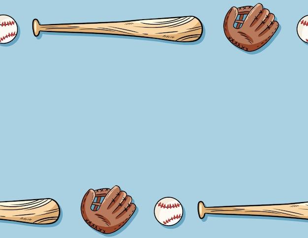 Baseball seamless pattern. Premium Vector