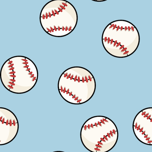 Baseball seamless pattern Premium Vector