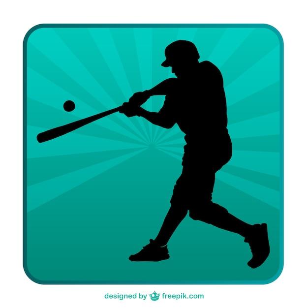 Baseball silhouette background