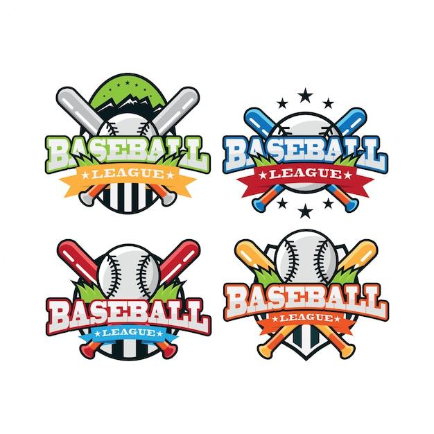 Baseball sport logo Premium Vector