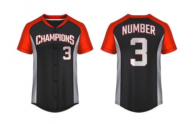 Baseball t-shirt template Premium Vector