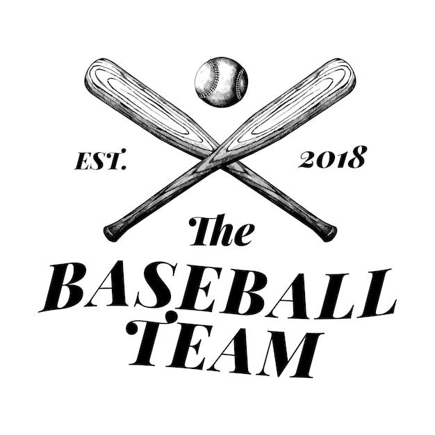 The baseball team logo design vector Free Vector