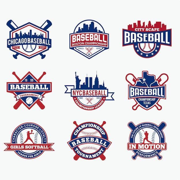 Premium Vector | Baseball team logo