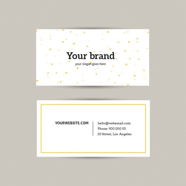 Basic business card with yellow lines Vector | Free Download
