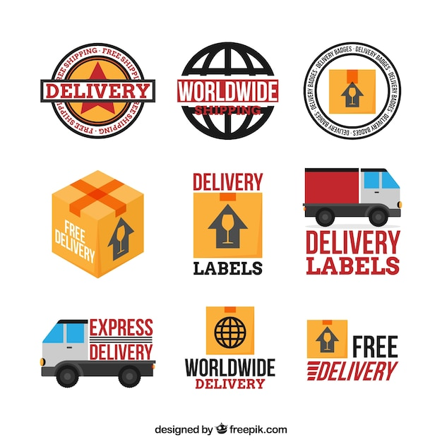 Basic pack of delivery labels