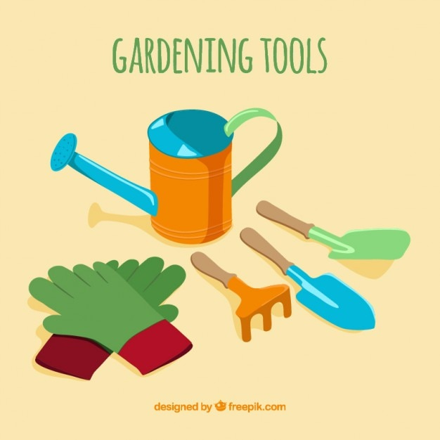 Basic tools for gardening Vector Premium Download