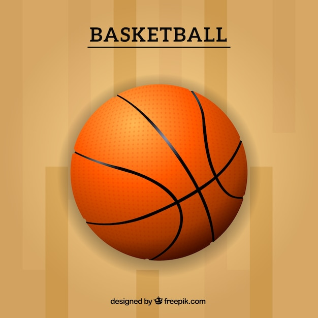 Basket ball background Free Vector