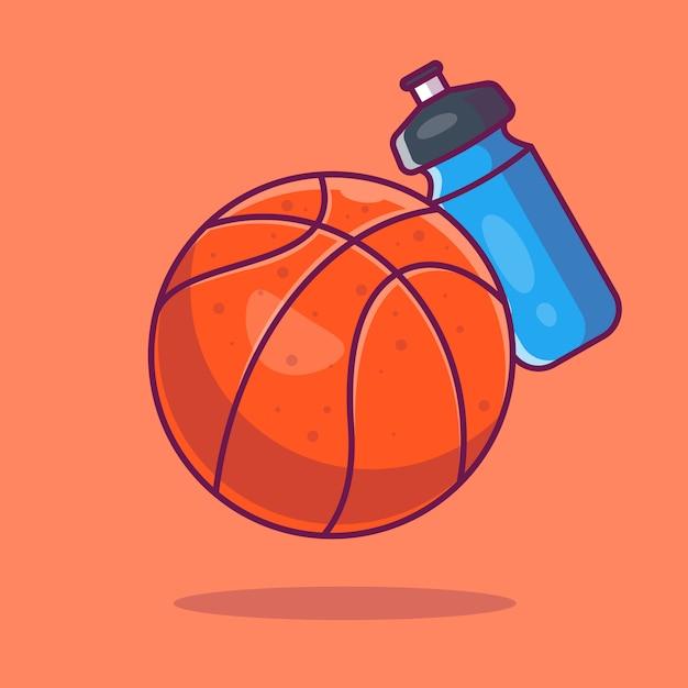 바구니 공 아이콘입니다. 바구니 공 및 물병, 스포츠 아이콘 절연 프리미엄 벡터