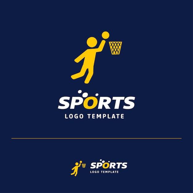 Basket ball logo Free Vector