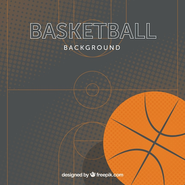 basketball background in flat design vector free download