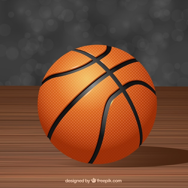basketball background in realistic style vector free download