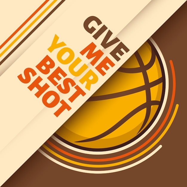 Basketball background Premium Vector