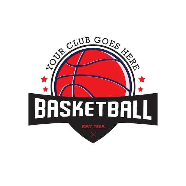 バスケットボールバッジラベルベクトル Premiumベクター