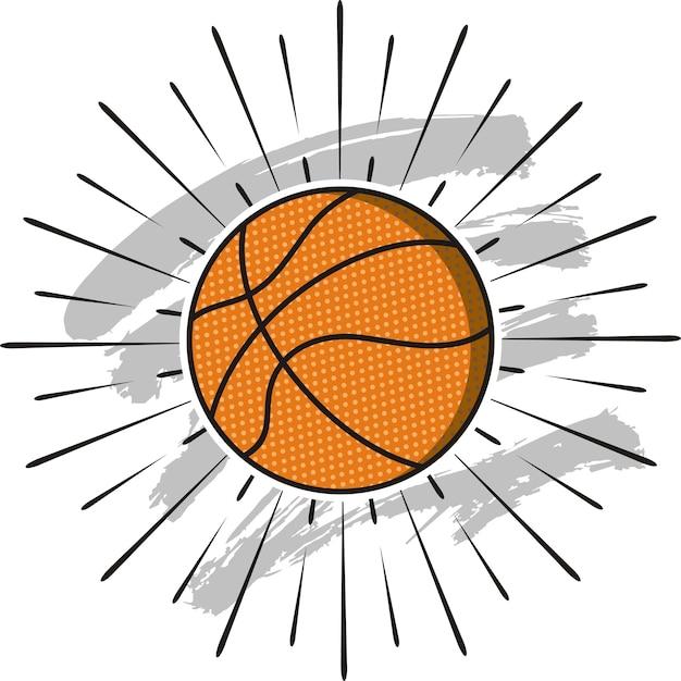 Basketball ball icon Premium Vector