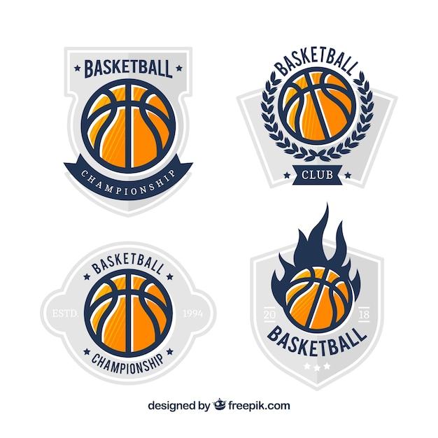 basketball ball logo collection vector free download