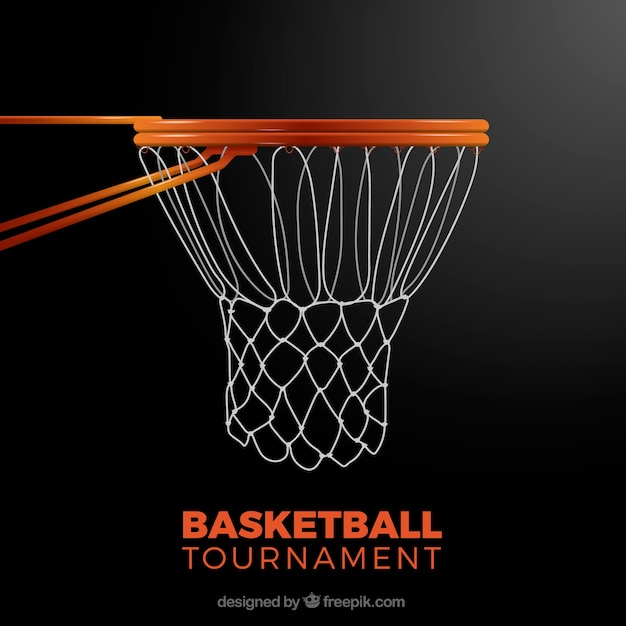 Basketball basket background Free Vector