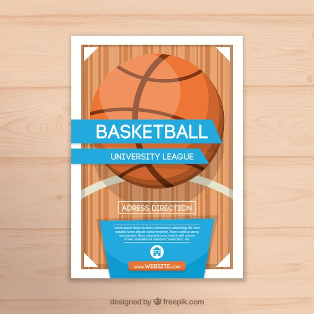 Basketball Booklet Template Free Vector  Free Booklet Template