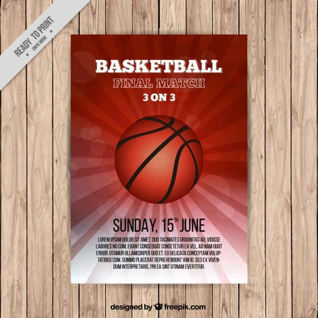 Basketball brochure template Free Vector