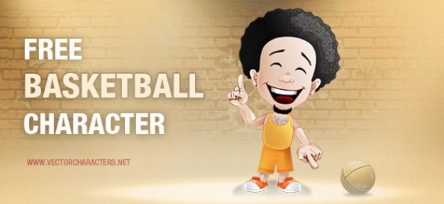 Basketball cartoon character