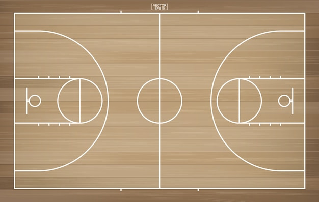 Premium Vector Basketball Court For Background