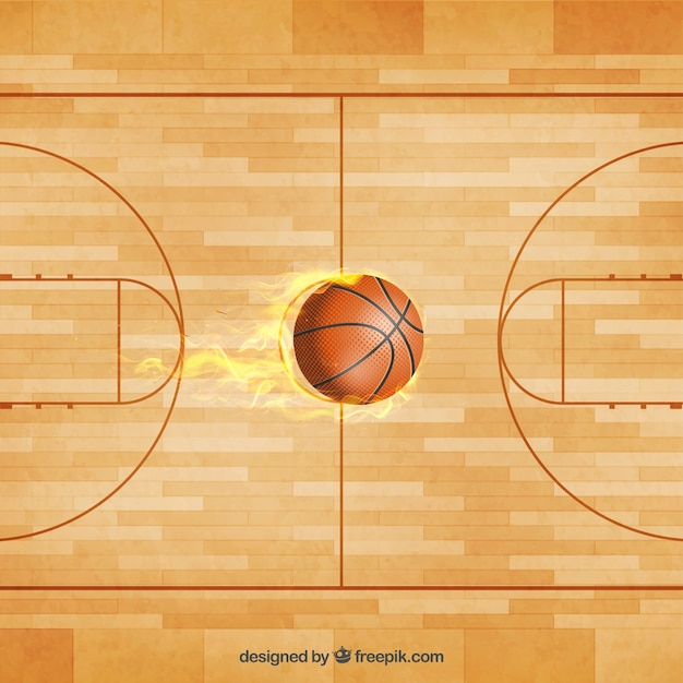 Basketball Court Ball Vector Vector Free Download