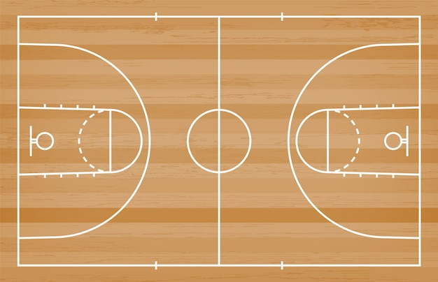 Premium Vector Basketball Court Floor With Line On Wood Texture Background