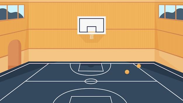 농구 코트 그림입니다. 프리미엄 벡터