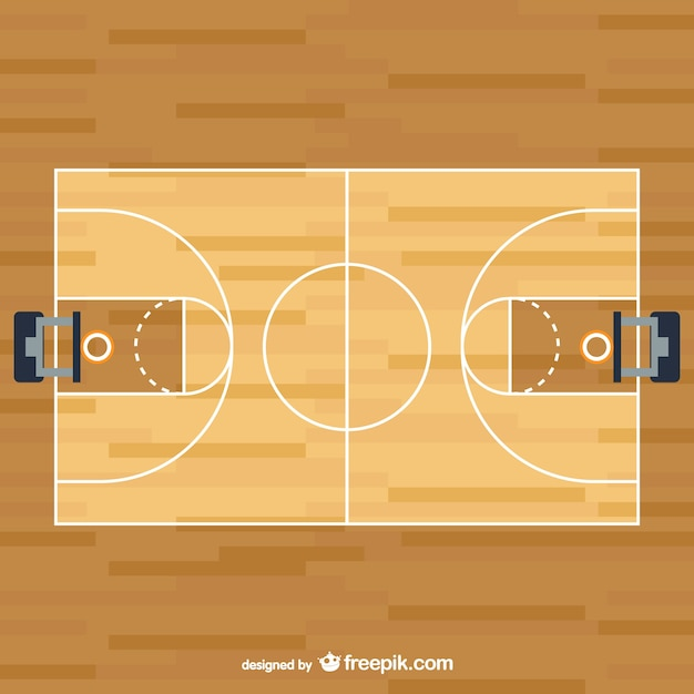 basketball court vector free download rh freepik com basketball court diagram vector basketball court background vector