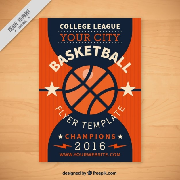 Basketball flyer template Free Vector