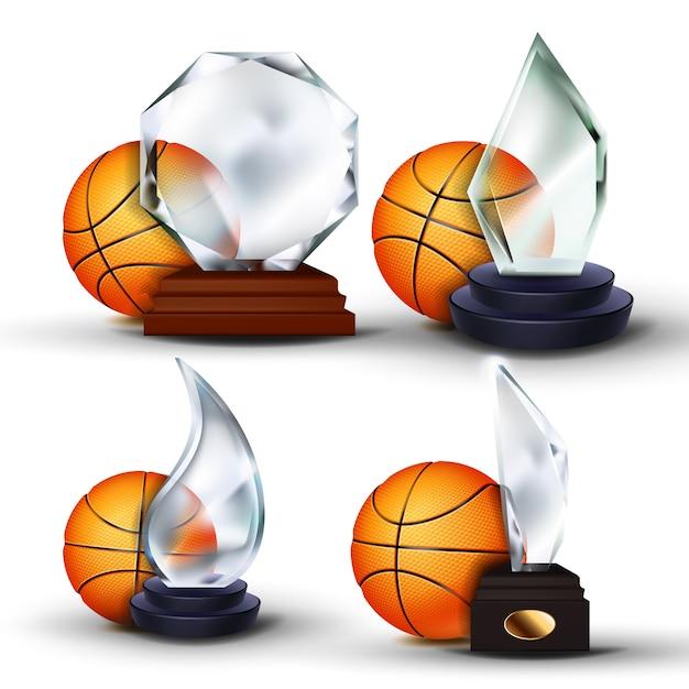 Basketball game award set Premium Vector