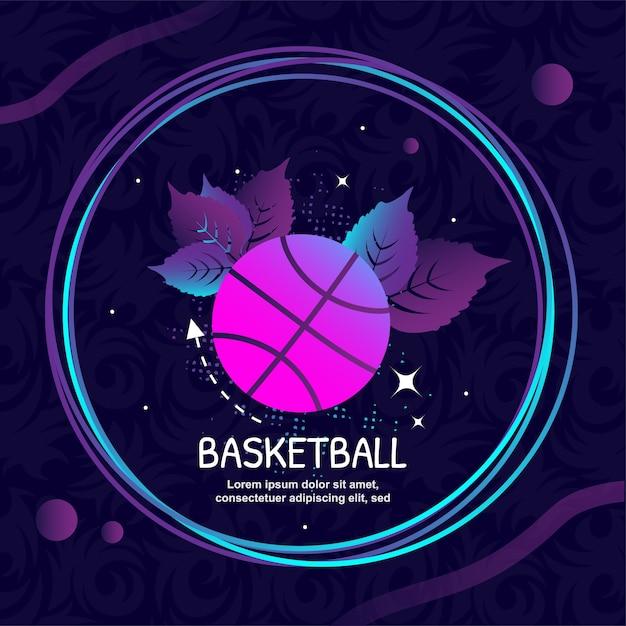 Basketball icon logo vector art illustration Premium Vector