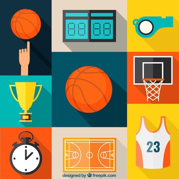 Basketball icons collection
